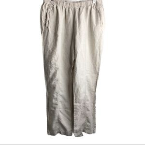 Chico's 100% Linen High Waist Pants With Pockets